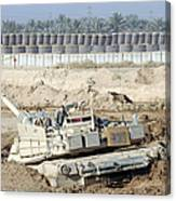 M1 Abrams Tank Is Bogged When Trying Canvas Print