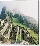 Machu Picchu In The Fog Canvas Print