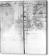 Madison: Account Book Canvas Print