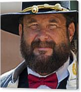 Major General L. L. Lomax Portrayed By Dan L. Carr 150th Anniversary Of The American Civil War Canvas Print