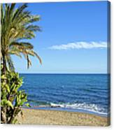 Marbella Beach In Spain Canvas Print