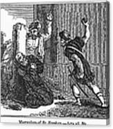 Martyrdom Of St. Stephen Canvas Print