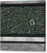 Maths Formula On Chalkboard Canvas Print
