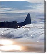 Mc-130p Combat Shadow Dropping Flares Canvas Print