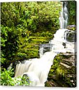 Mclean Falls In The Catlins Canvas Print