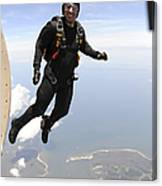 Member Of The U.s. Army Golden Knights Canvas Print