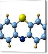 Methylene Blue, Molecular Model Canvas Print