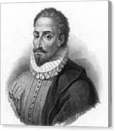 Miguel De Cervantes, Spanish Author Canvas Print