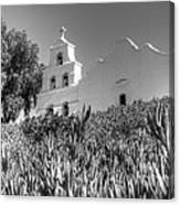 Mission San Diego De Alcala Monochrome Canvas Print