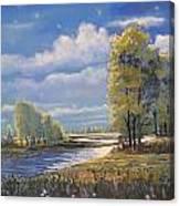 Moonlight On Clear Creek Canvas Print