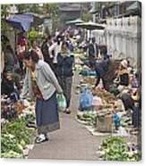 Morning Market In Luang Prabang Canvas Print