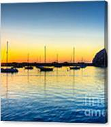 Morro Bay Sunset Canvas Print