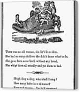 Mother Goose, 1833 Canvas Print