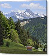 Mountain Landscape In The Alps Canvas Print
