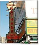 Nathan's Famous At Coney Island  Canvas Print