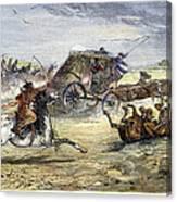 Native American Attack On Coach Canvas Print