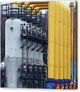 Natural Gas Compressor Station Canvas Print