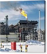 Natural Gas Liquefaction Plant Canvas Print