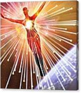Neutrinos, Conceptual Image Canvas Print