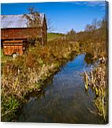 New England Farm In Autumn Scenery Canvas Print