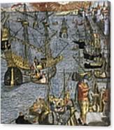 New World: Voyage, 1592 Canvas Print