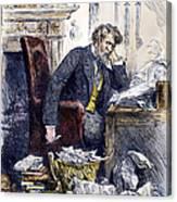 Newspaper Editor, 1880 Canvas Print