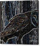 Night Owl - Digital Art Canvas Print