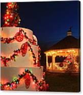 Oakham Massachusetts 250th Anniversary Holiday Lights Canvas Print