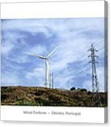 Obidos Wind Turbine II Portugal Canvas Print