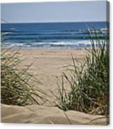 Ocean View With Sand Canvas Print