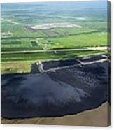 Oil Plant Settling Pond Canvas Print