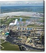 Oil Processing Plant, Athabasca Oil Sands Canvas Print