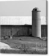 Old Barn And Silo Canvas Print