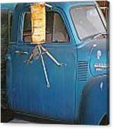 Old Blue Farm Truck Canvas Print