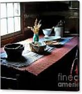 Old Cabin Table Canvas Print