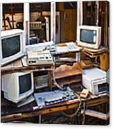 Old Computers In Storage Canvas Print