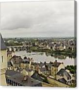 old French town  Canvas Print