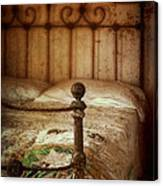 Old Iron Bed Canvas Print