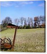 Old Plow Canvas Print