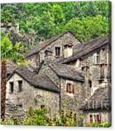 Old Rustic Village Canvas Print
