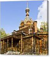 Old Wooden Russian Orthodox Church  Canvas Print