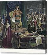 Oliver Cromwell Canvas Print