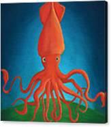 Orange Squid Canvas Print