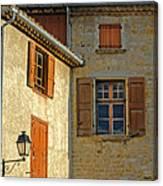 Orange Windows In Provence Canvas Print