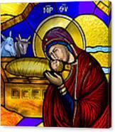 Orthodox Christmas Card Canvas Print