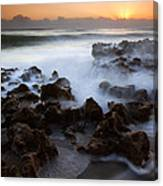 Overwhelmed By The Sea Canvas Print