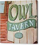 Owl Tavern Canvas Print