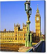 Palace Of Westminster From Bridge Canvas Print