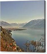 Panoramic View Over A Lake Canvas Print