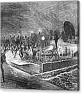 Paris: Sewers, 1869 Canvas Print